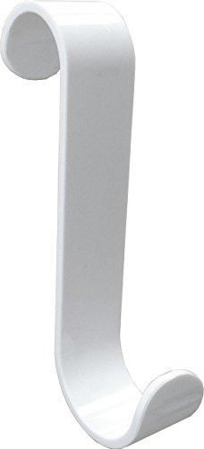 10er-Set Kunststoff Rundheizkörper Haken in weiß in unterschiedlichen Radien