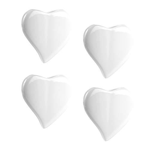 4er Luftbefeuchter Set in Herzform mit einer Wasserkapazität von 300 ml für den Heizkörper