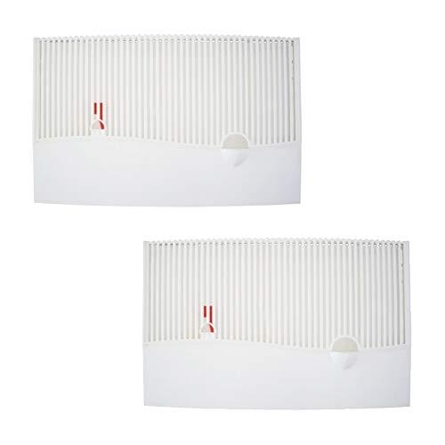 Heizungs Luftbefeuchter aus Kunststoff mit Wasserstandsanzeige und Spezialvlieseinlage