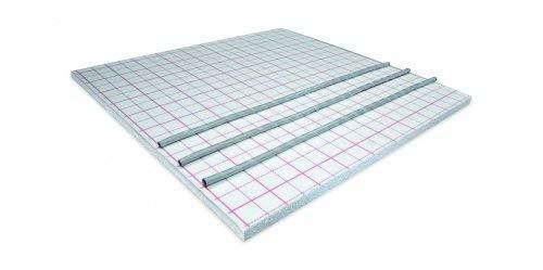 Systemplatten zum Verlegen einer Fußbodenheizung im Trockenbau