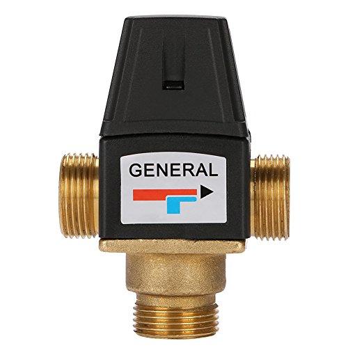 3 Wege Thermostatventil mit hohem Durchfluss, Thermostatisches Mischventil für u.a. Fußbodenheizungen