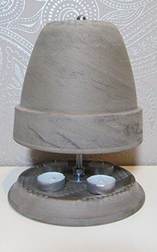Teelichtofen Farbe Basalt von Teelichtofen24