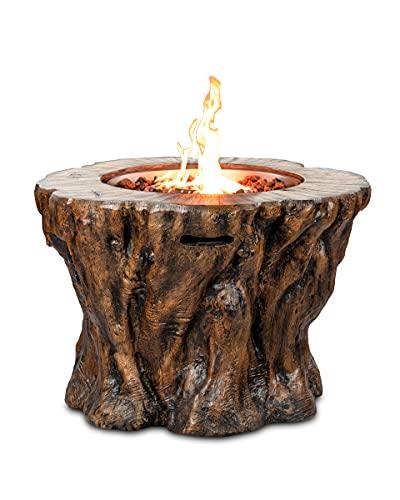 Gaskamin Modell Wood Trunk von Clifton