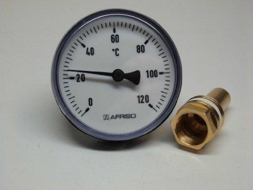 Analoges Bimetall Zeigerthermometer mit schwarzem Kunststoffgehäuse