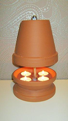 Teelichtofen aus Terrakotta von Teelichtofen24
