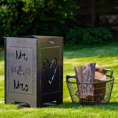 Individualisierbarer Feuerkorb für Hochzeiten Modell Mr&Mrs  von Metallfuxx