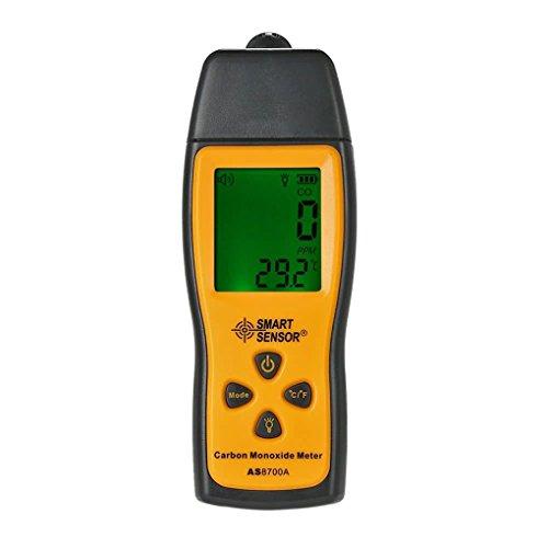 Tragbarer Kohlenmonoxid Gasdetektor mit intelligentem Sensor und klarem LCD-Display