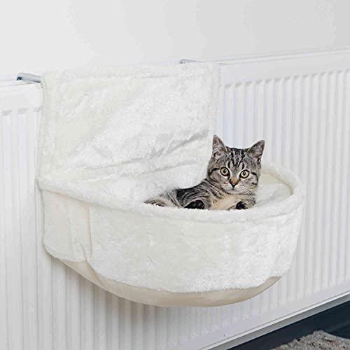 Katzen Kuschelsack aus Polyesterplüsch zum einfachen einhängen in alle gängigen Heizkörper
