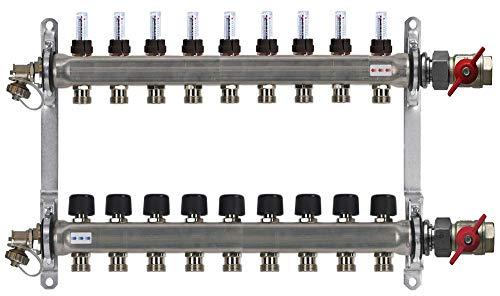 HVE-FD-AK Heizkreisverteiler von Buderus, inklusive Durchflussdurchmesser