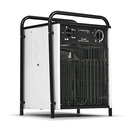 Elektroheizer mit integriertem Überhitzungsschutz und Ventilatorfunktion von TROTEC