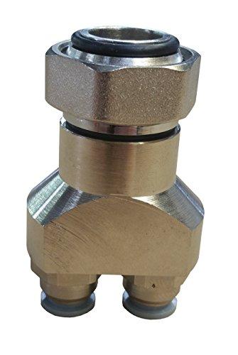 Verteilerfinger für Doppelrohre mit selbstdichtendem Klick-In Rücklauf als Zubehör für Warmwasser Jollytherm Fußbodenheizungen