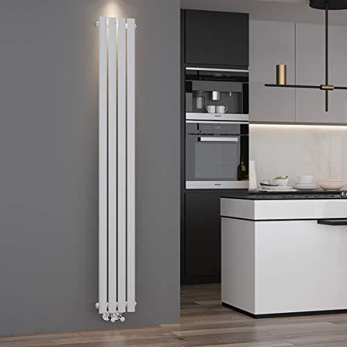 ELEGANT Paneelheizkörper in modernen Design mit Mittelanschluss und vertikalen Röhren