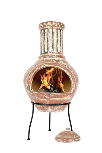 Ton-Kamin im Terrakotta-Design Modell Calido von La Hacienda