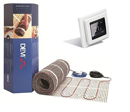 Dünnbett Fußbodenheizung Devimat (DSVF150) von Devi, mit digitaler Devireg Touch-Steuerung (4qm)