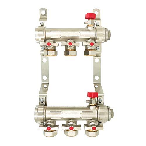 Heizkreisverteiler für Fussbodenheizung mit fünf Anschlussmöglichkeiten