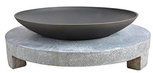 Feuerschale mit rundem Sockel Modell Granito von Esschert Design