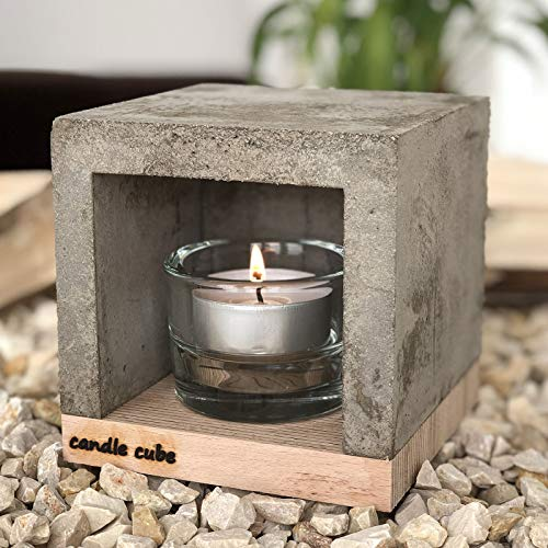 Tisch-Teelichtofen Modell Candle Cube von ECI