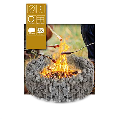 Gabionen-Feuerstelle von Bellissa