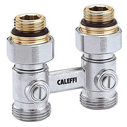 Zweirohr Hahnblock von Caleffi, Doppelkugelhahn für Heizkörper