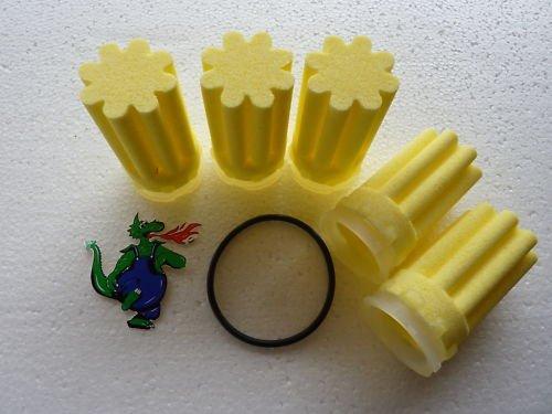 Filtereinsatz / Ölfilter für Heizung samt Dichtung, sternförmig, 5 Stück