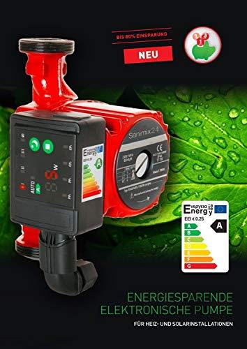 Hochwertige Hocheffizienzpumpe, elektronisch, Leistungsaufnahme 5-45 Watt