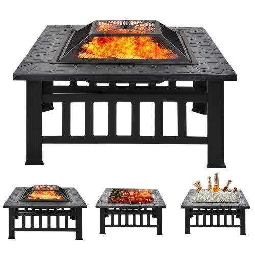 Feuerstelle & Feuerschale mit Funkenschutz von Merax