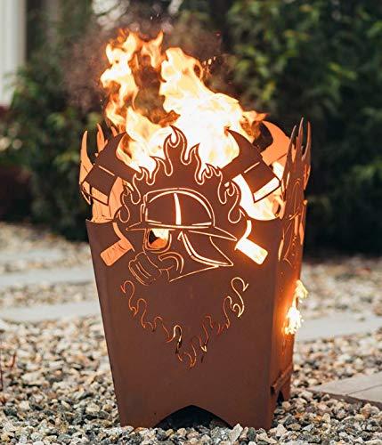 Feuerkorb Modell Atemschutz von Garten Himmel