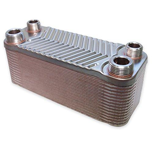 Hrale Edelstahl Wärmetauscher 30 Platten für Wärmepumpen, Heizungen, Klimaanlagen uvm.
