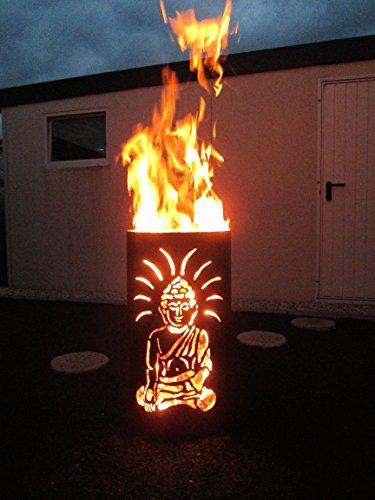 Feuertonne im Buddha-Design von Tiko-Metalldesign