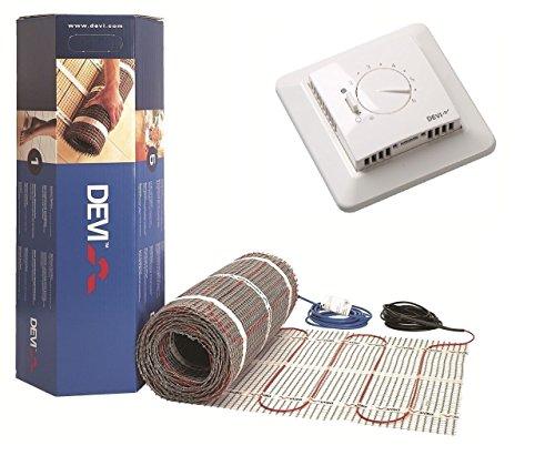 Dünnbettset Fussbodenheizung Devimat von Devi (DSVF150) mit Devireg 530 Analogregler, für 4qm