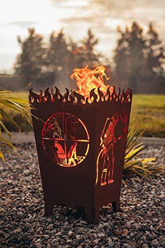 Feuerkorb Modell Florian mit Feuerwehr-Motiv von Garten Himmel
