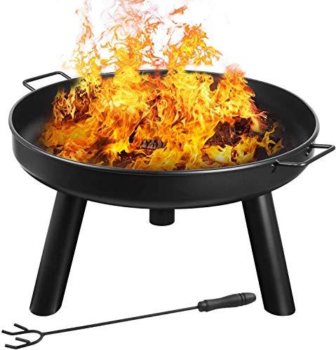 Feuerschale mit Griffen & Feuergabel von Femor