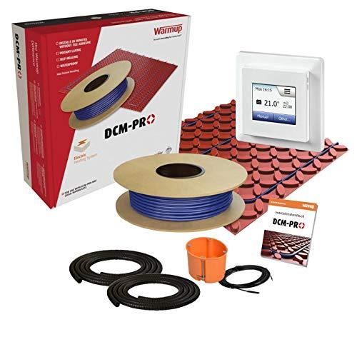 Elektrisch betriebene Fußbodenheizung mit MCD5-Regler und Entkopplungsmatte