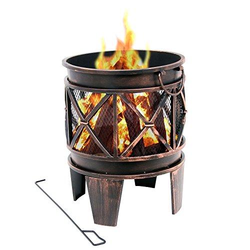 Feuerkorb Plum mit Gestell aus Metall von BBQ-Toro