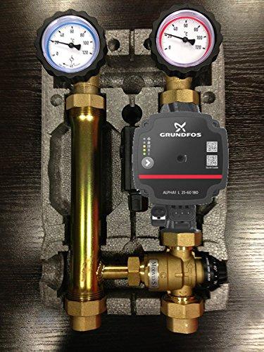 Grundfos Alpha Pumpengruppe - Fußbodenheizung Hocheffizienzpumpe