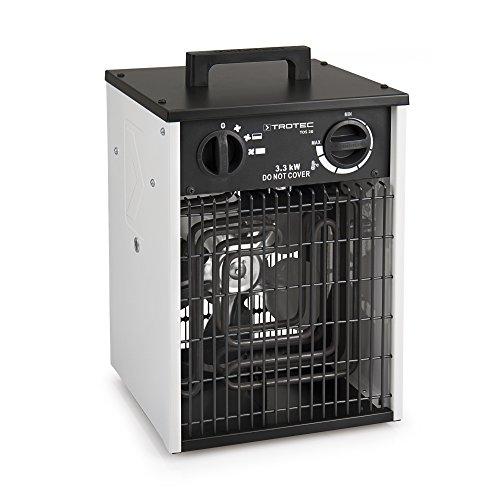 Elektroheizer mit Überhitzungsschutz, Thermostat und Ventilatorfunktion von TROTEC