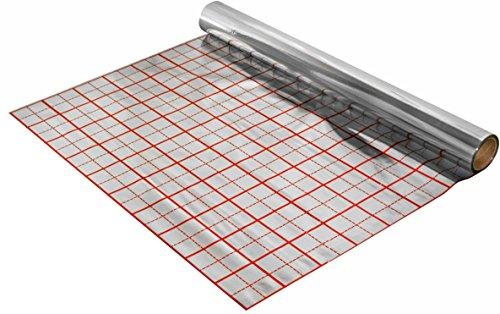 50 m2 Isolierfolie mit Rasteraufdruck