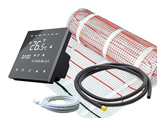 Komplettset SunPro Elektro Fußbodenheizung mit RT-50 Touch Thermostat und 160 Watt Leistung pro qm