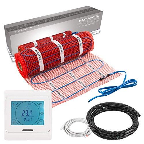 Elektro Fußbodenheizung von Vilstein, Komplettset mit Twin Thermostat und Bodenfühler