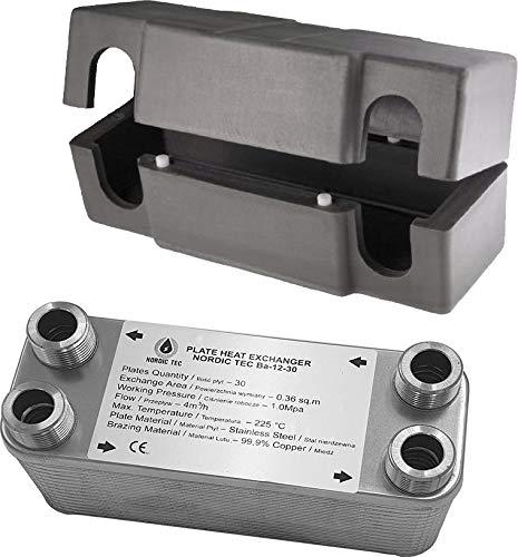 NORDIC - Plattenwärmetauscher aus Edelstahl Ba-12-20