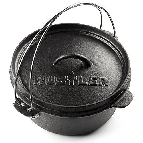 Dutch Oven Feuertopf & Schmortopf mit Deckel von Rustler