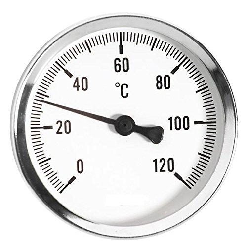 Bimetall Multi Thermometer mit 1/2 Zoll Anschluss für Temperaturen von 0 bis 120 Grad Celsius