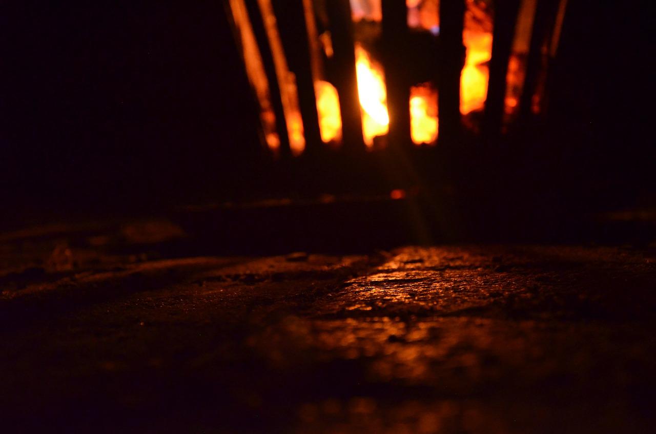 Feuerkorb Feuerschale Funkenschutz Feuer Flammen Funken