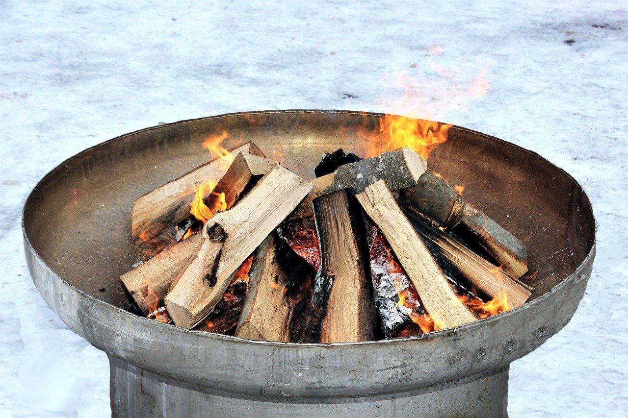 Garten Feuerschale Feuer Flammen Glut