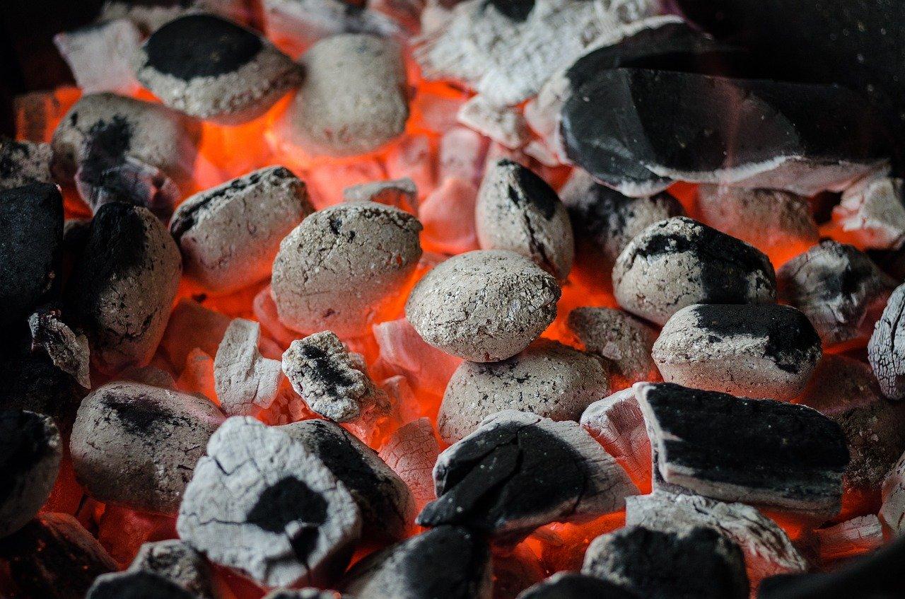 BBQ Hozkohle Glut Hitze