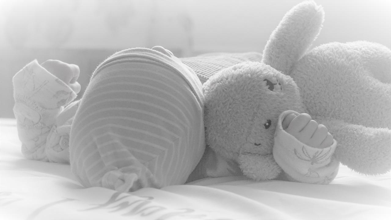 Baby Neugeborenes Säugling Mütze Kuscheltier Hase Wickeln
