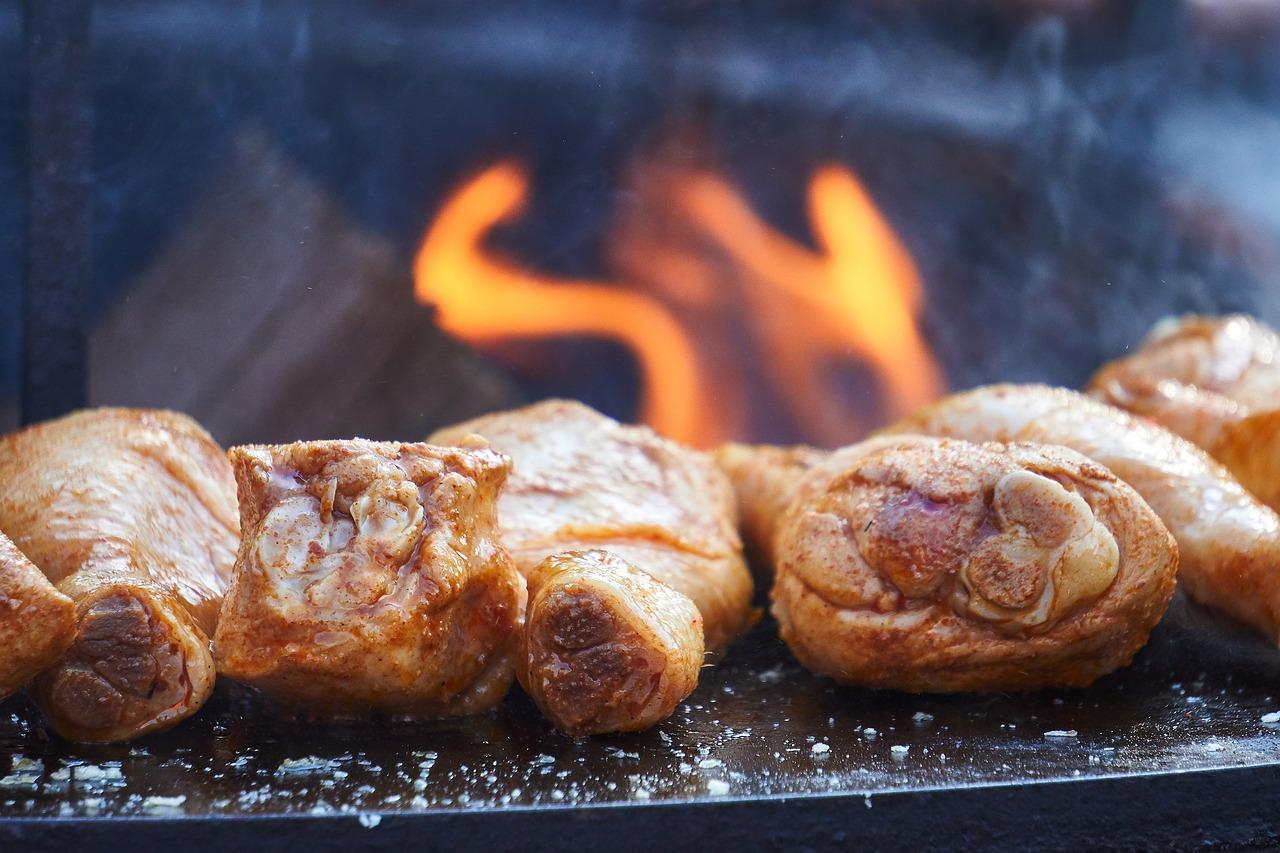 Feuer Feuerschale Chicken Grillen Hähnchen