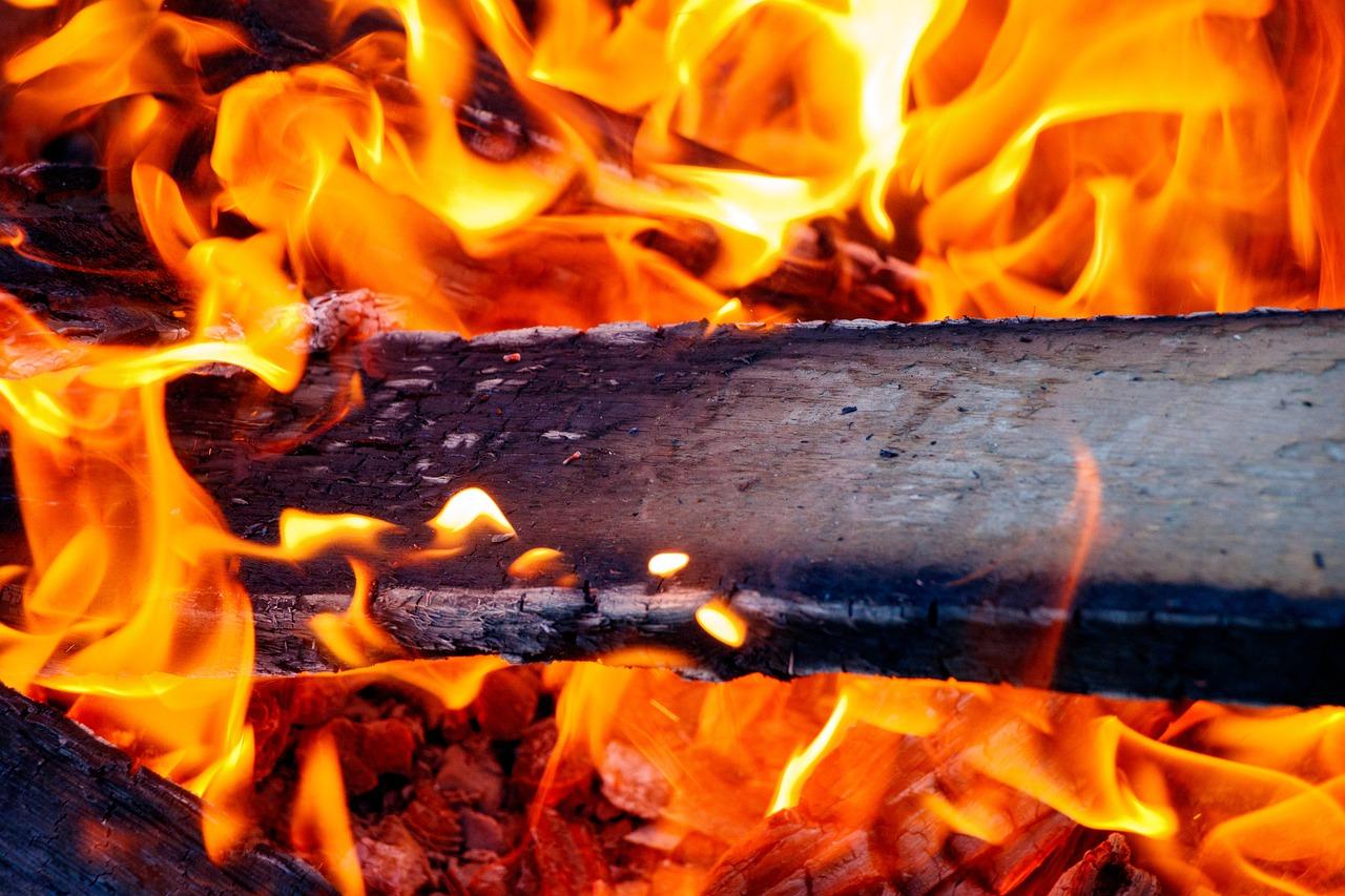 Feuer Flamme Hitze Glut Holz