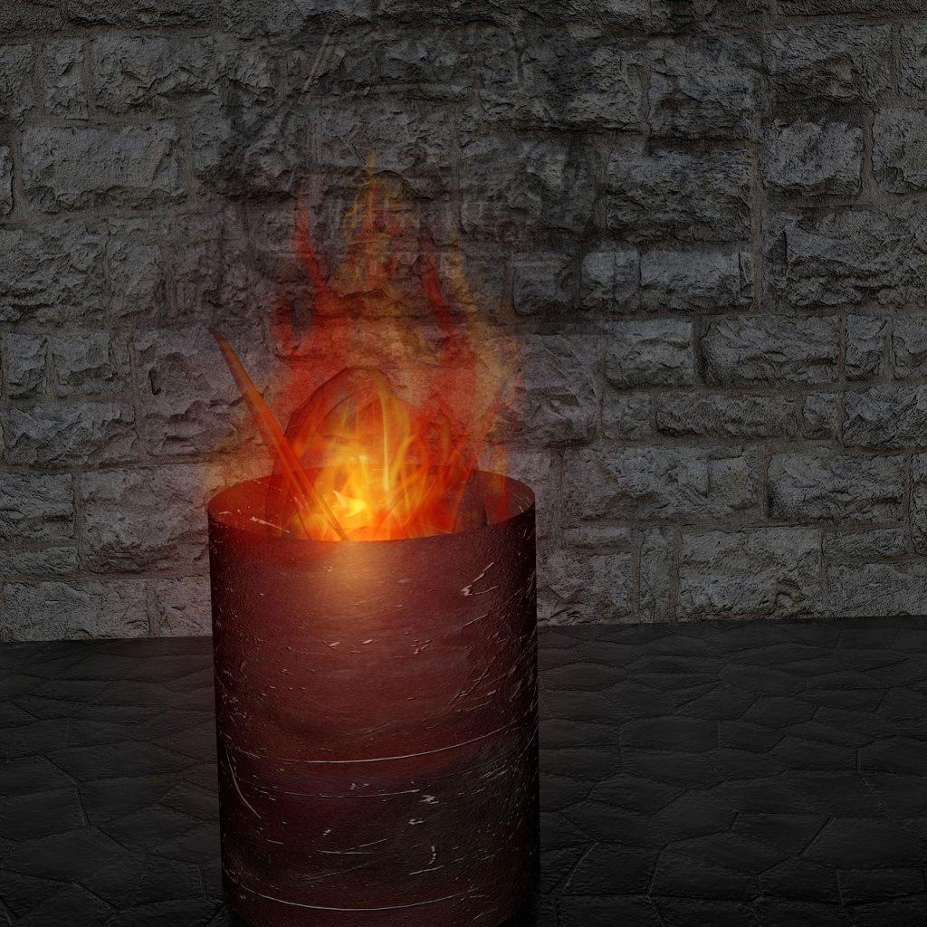 Feuer Flammen Feuertonne Hitze