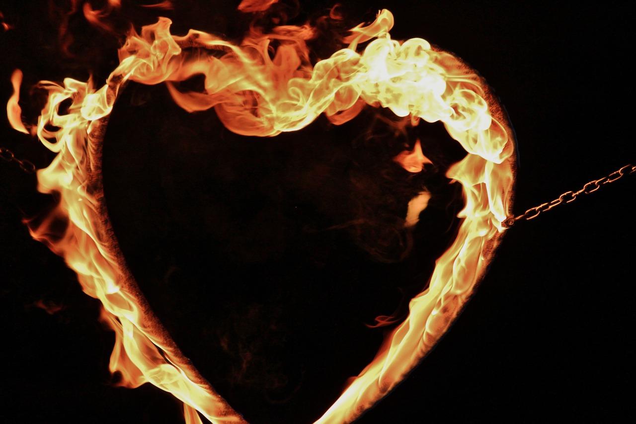 Feuer Herz Flammen Hochzeit Deko